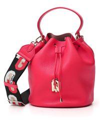 Furla Sleek Bucket Bag - Red