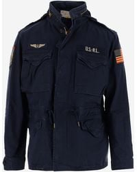 Polo Ralph Lauren Patch Motifs Field Jacket - Blue