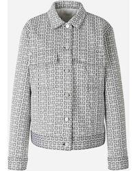 Givenchy Jacquard Denim Jacket - White