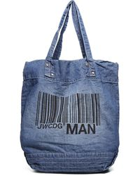 Junya Watanabe - Junya Watanabe Comme Des Garçons Barcode Print Tote Bag - Only One Size / Blue - Lyst