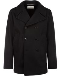 Saint Laurent Double-breasted Pea Coat - Black