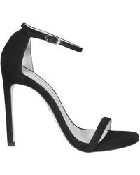 Stuart Weitzman Nudist Sandals - Black