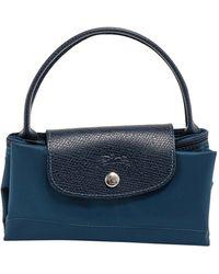Longchamp Le Pliage Top Handle Bag - Blue