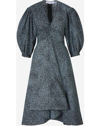 PROENZA SCHOULER WHITE LABEL Polka-dot Print Dress - Blue