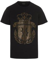 Billionaire Stud Embellished T-shirt - Black