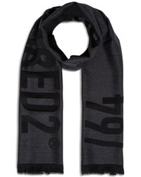 DSquared² Wool Scarf With Logo - Multicolour