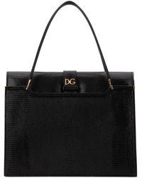 Dolce & Gabbana Ingrid Top Handle Tote Bag - Black