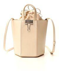 Off-White c/o Virgil Abloh Binder-clip Bucket Bag - Natural