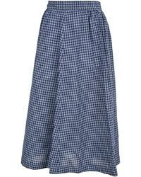 A.P.C. - Ravenna Checked Midi Skirt - Lyst