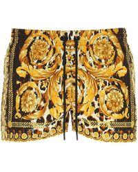 Versace Wild Baroque Print Swim Shorts - Multicolour