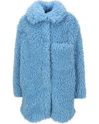 Stella McCartney Faux Fur Josephine Coat - Blue
