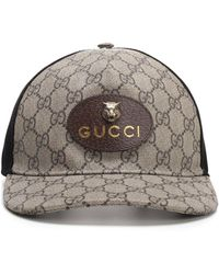 Lyst - Gucci Gg Supreme Patch Trucker Hat in Brown for Men 5e18f1fb585