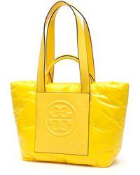 Tory Burch Perry Bombé Logo Tote Bag - Yellow