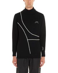 A_COLD_WALL* * Knitted Logo Sweater - Black