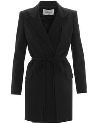 Valentino Tie Waist Tailored Jacket - Black