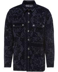 DIESEL D-jessy-sp1 Bandana Motif Denim Shirt - Blue