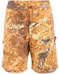 Heron Preston Cargo Shorts - Orange