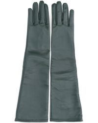 Maison Margiela Leather Gloves - Green