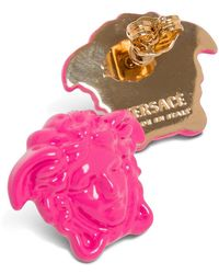 Versace Pink Medusa Earrings