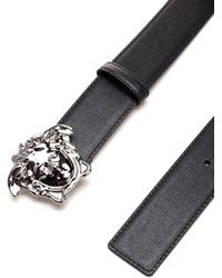 Versace La Medusa Buckle Belt - Black