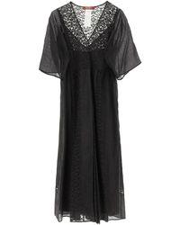 Max Mara Studio Lace V-neck Dress - Black