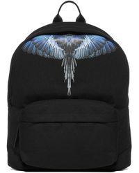 Marcelo Burlon Wings Print Backpack - Black