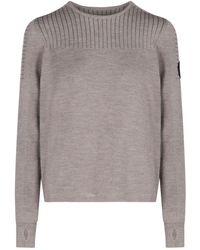 Canada Goose Elmvale Crewneck Knit Sweater - Grey