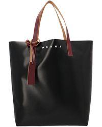 Marni Tribeca Shopping Tote Bag - Black