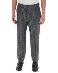 Fendi Pinstripe Tailored Trousers - Grey