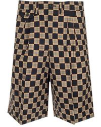 Burberry Chequer Jacquard Tailored Shorts - Brown