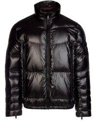 Prada Triangle Logo Puffer Jacket - Black