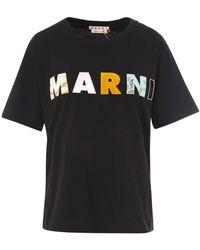Marni Logo T-shirt - Black