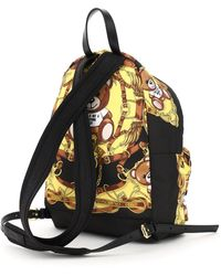 Moschino - Teddy Backpack With Foulard Print - Lyst