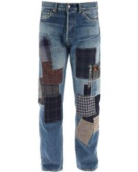 Junya Watanabe Eye Jeans With Patchwork - Blue