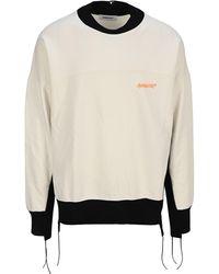 Ambush Contrast Detail Logo Sweatshirt - White