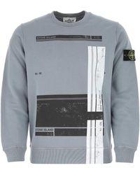 Stone Island Graphic Printed Sweatshirt - Grey