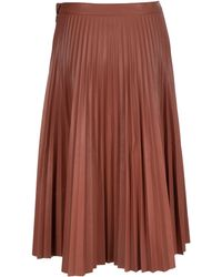 PROENZA SCHOULER WHITE LABEL Pleated Midi Skirt - Red