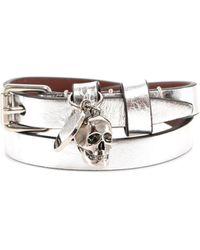 Alexander McQueen Skull Wrap Bracelet - Metallic