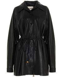 Nanushka Joy Faux Leather Mini Dress - Black