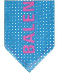 Balenciaga Logo Foulard - Blue
