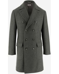 Brunello Cucinelli Double-breasted Peacoat - Grey