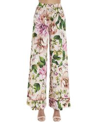 Dolce & Gabbana Floral Print Trousers - Multicolour