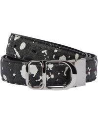 Dior Homme - Speckle Belt With Red Stitch And Logo Buckle - Lyst