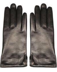 Gucci Bee Leather Gloves - Black