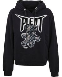 Philipp Plein Teddy Bear Drawstring Sweatshirt - Black
