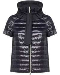 Herno Short Sleeve Padded Jacket - Black