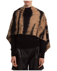 Moschino Patterend Poncho - Brown
