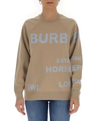 Burberry Horseferry Knitted Sweater - Natural
