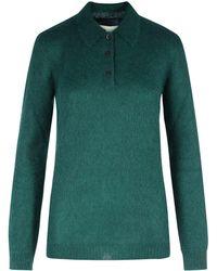 Prada Long Sleeves Polo Mohair - Green