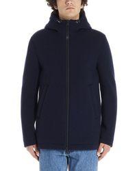 Herno Hooded Zip-up Jacket - Blue
